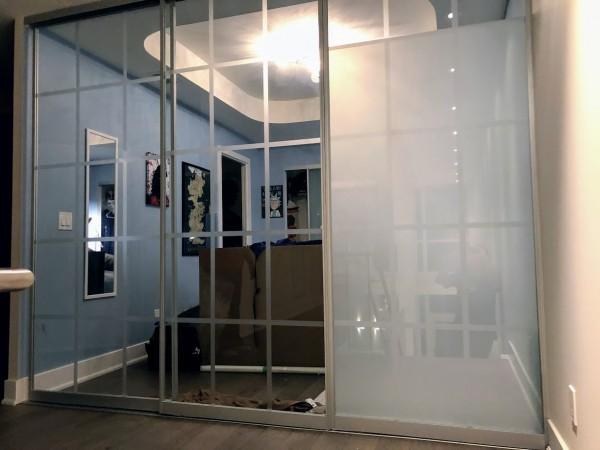 condo frosting doors